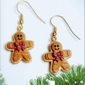 Gingerbread Brown Hook Earrings